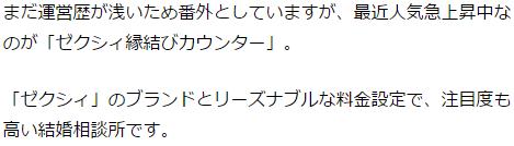 ゼクシィ縁結びカウンター横浜口コミ評判